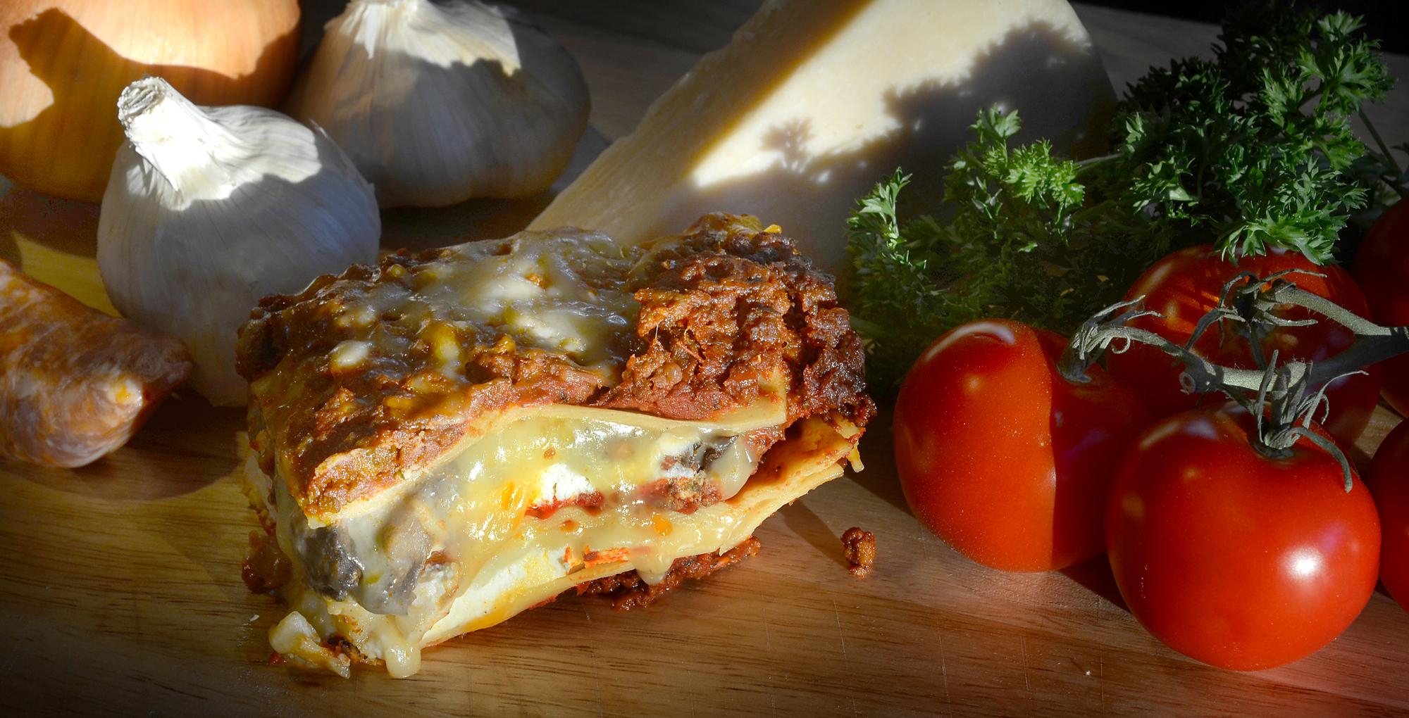 Michael McCollum 10/14/13 Lasagna, and ingredients.